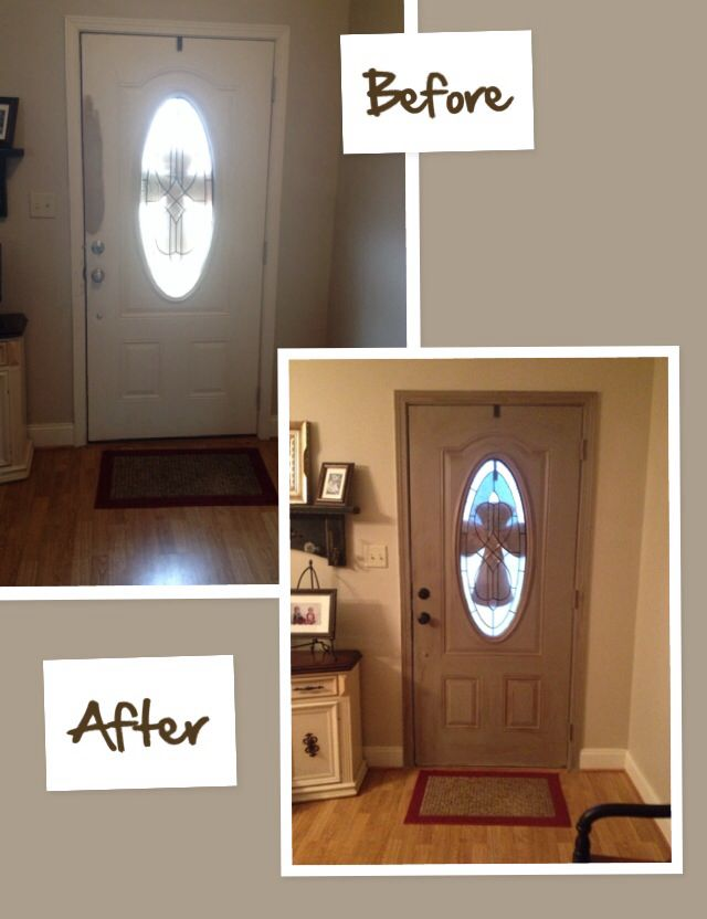 Painted The Inside Of My Front Door With Annie Sloan Chalk Paint In