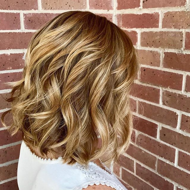 Balayage with a root touch up.