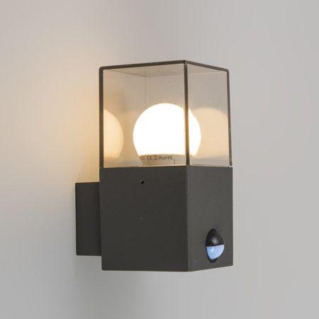 Aplique Denmark Gris Oscuro Con Sensor De Movimiento Lampara De Pared Luces De Colores Apliques De Pared