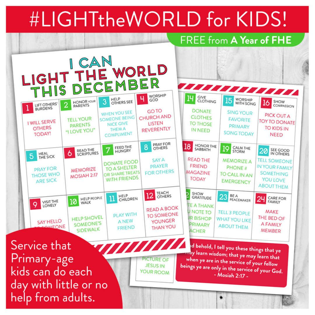 LIGHTtheWORLD Christmas activities for Primary aged children