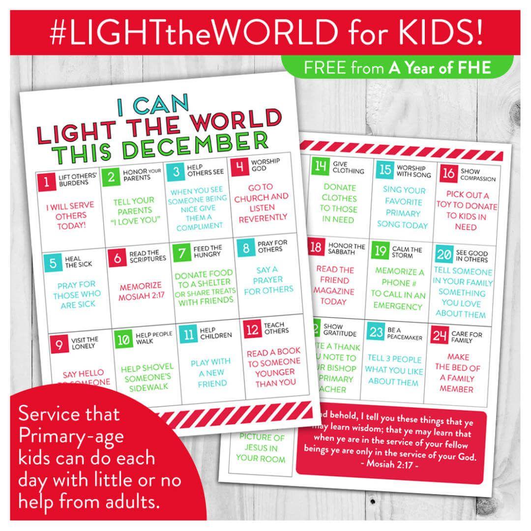 FREE DOWNLOAD // LDS LIGHT the WORLD Service Calendar for Kids ...