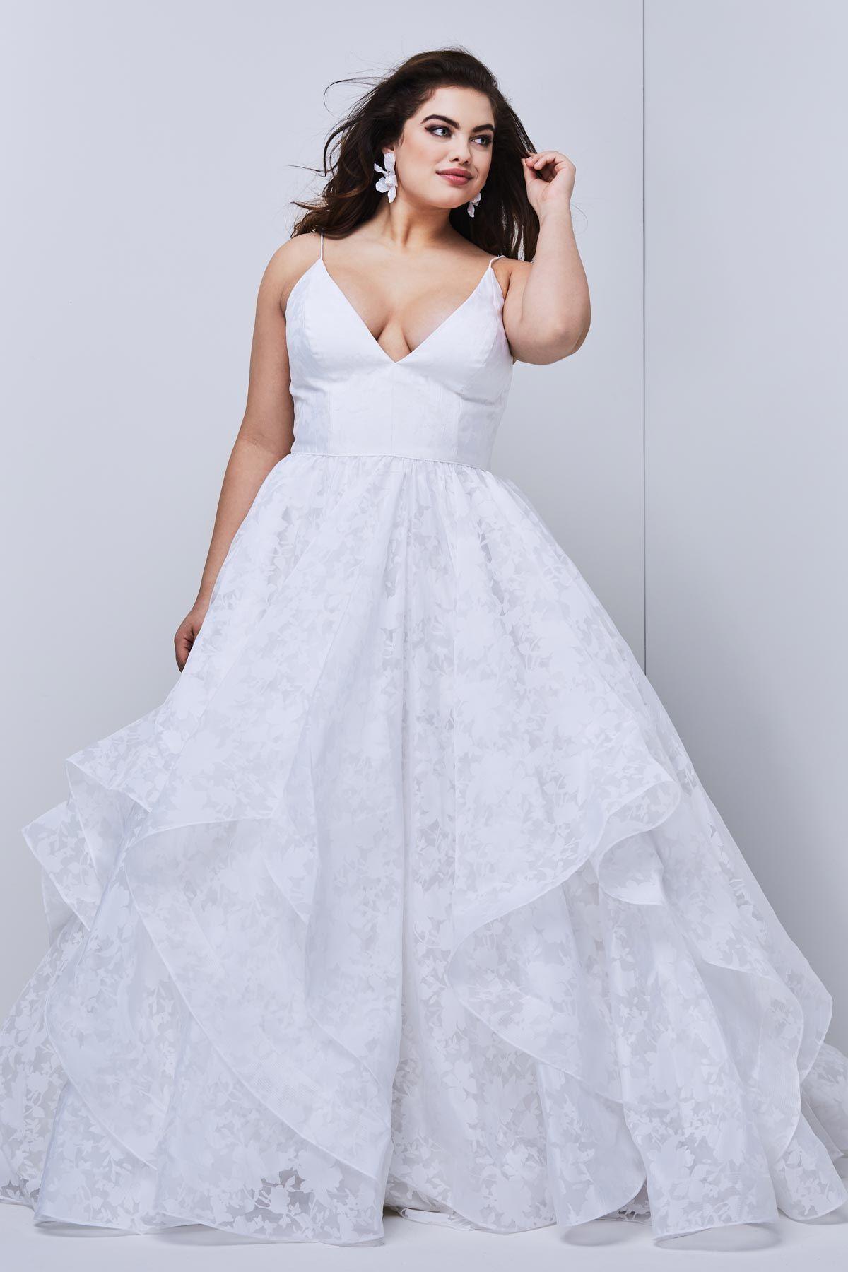 WTOO 10207 Langdon VNeck Plus Size Wedding Dress