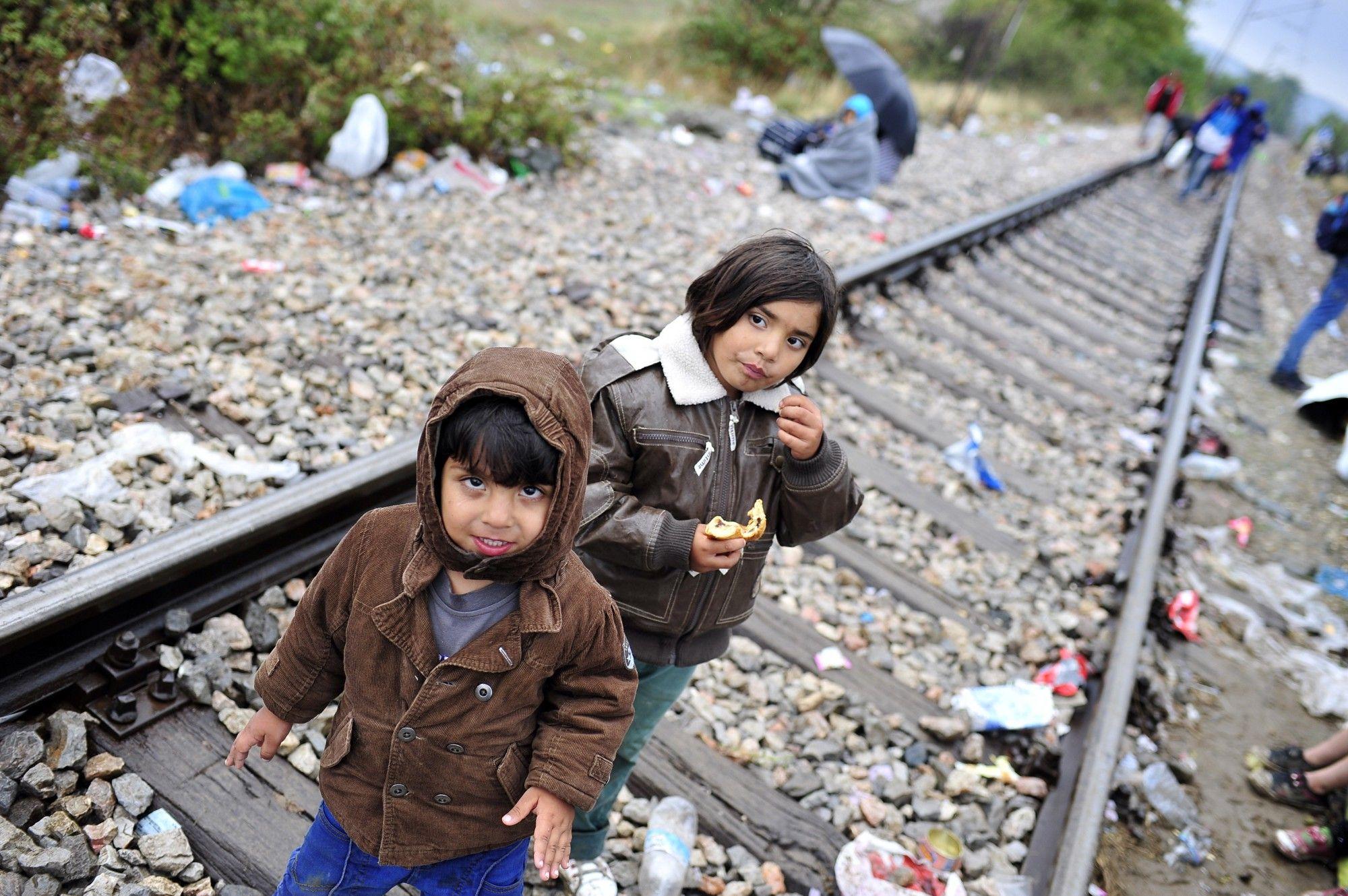 Crianças da crise dos refugiados em 2015. Foto: UNICEF.