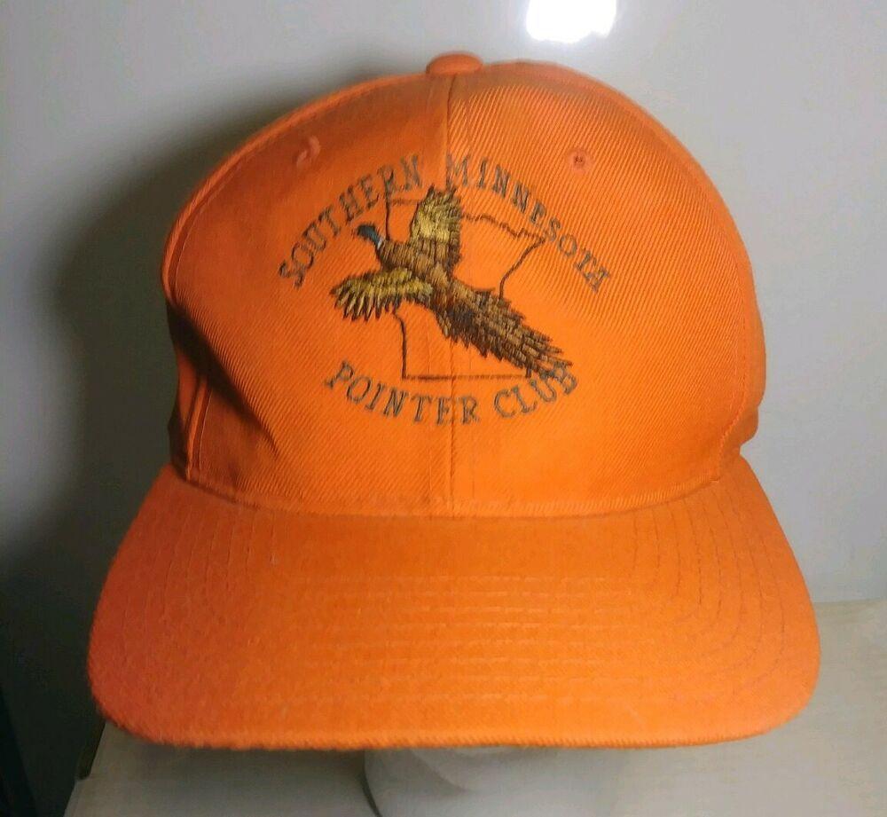 1e8a248c711ed VTG Southern Minnesota Pointer Club Pheasant Hunting Hat Orange Yupoong