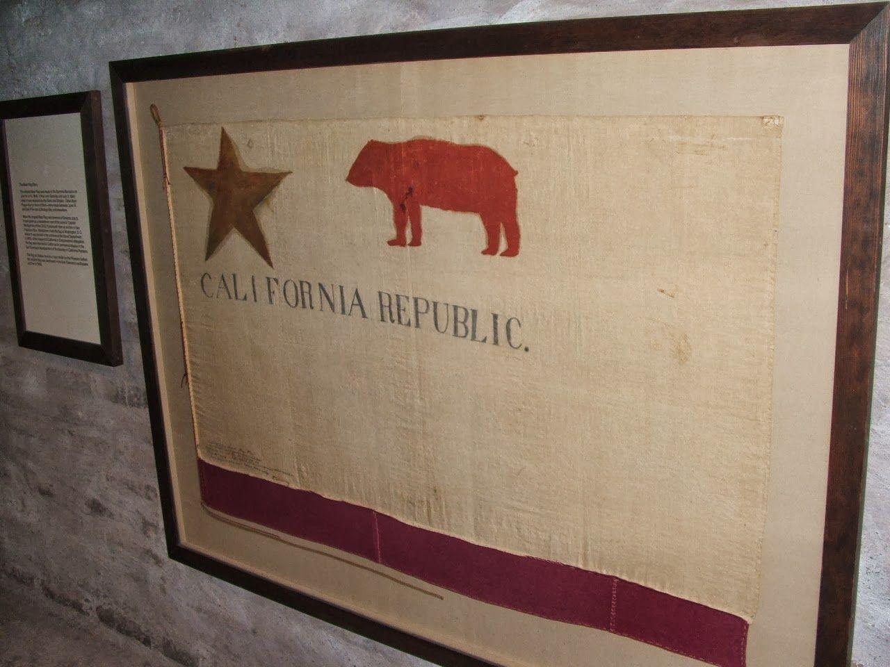 "1896 Made Copy of the ""Original"" Todd Painted, California Bear Flag at Sonoma Barracks | Bear Flag Museum"