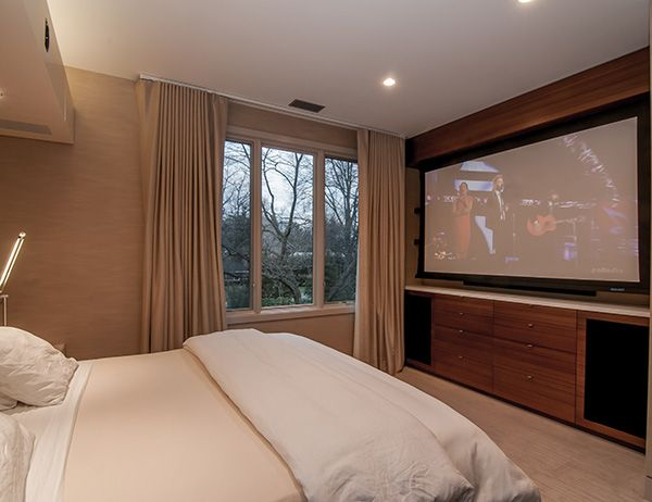 Bedroom projection screen interior pinterest for 3 rooms for 1999