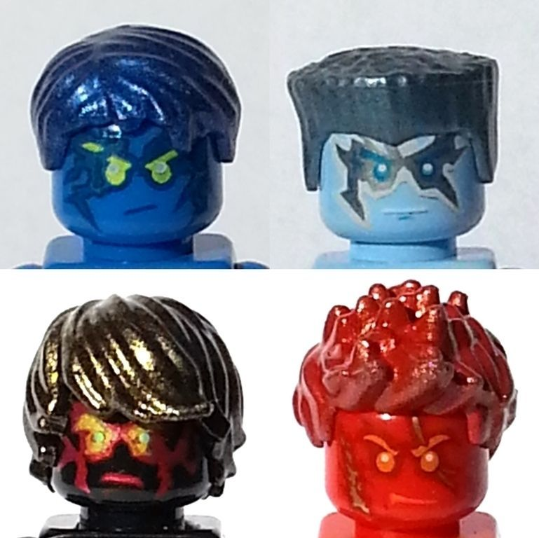 HAIR For YOUR Lego NINJAGO Minifigures NRG JAY COLE ZANE ...