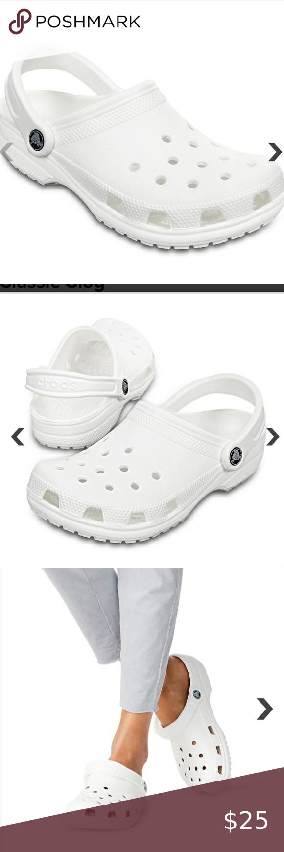 white crocs -white crocs -few marks but