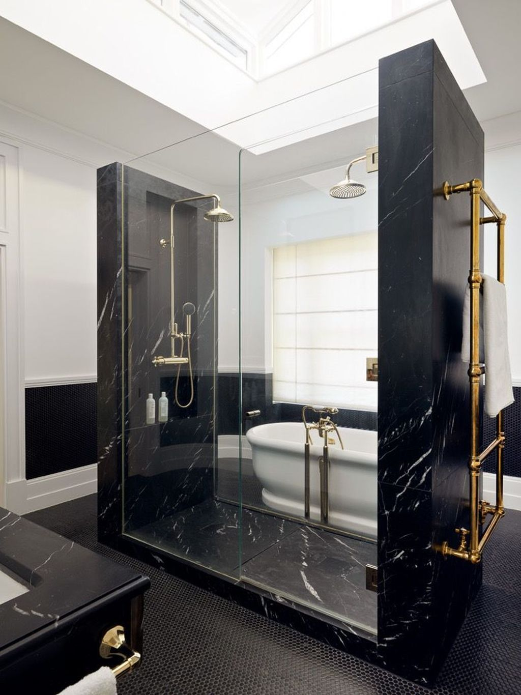 48 Stunning Black Marble Bathroom Design Ideas Marble Bathroom