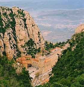 Manresa, Spain.  Lived in this city for three months. This is a monestary in Montserrat (Serrated Mountain) just outside the city. Simply incredible how it just hangs on the side of the cliff.
