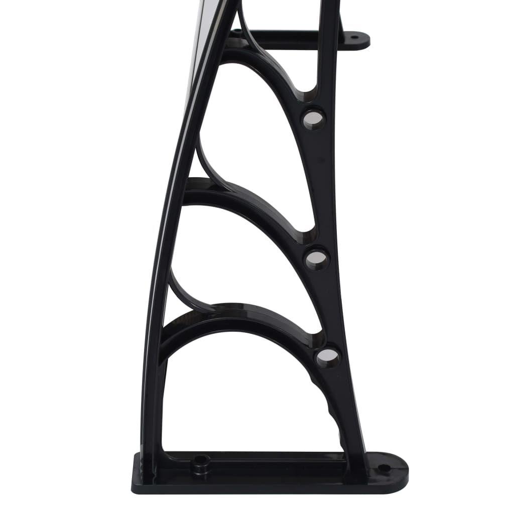 ZUN Door Canopy Black 47.2″x39.4″ PC 45633