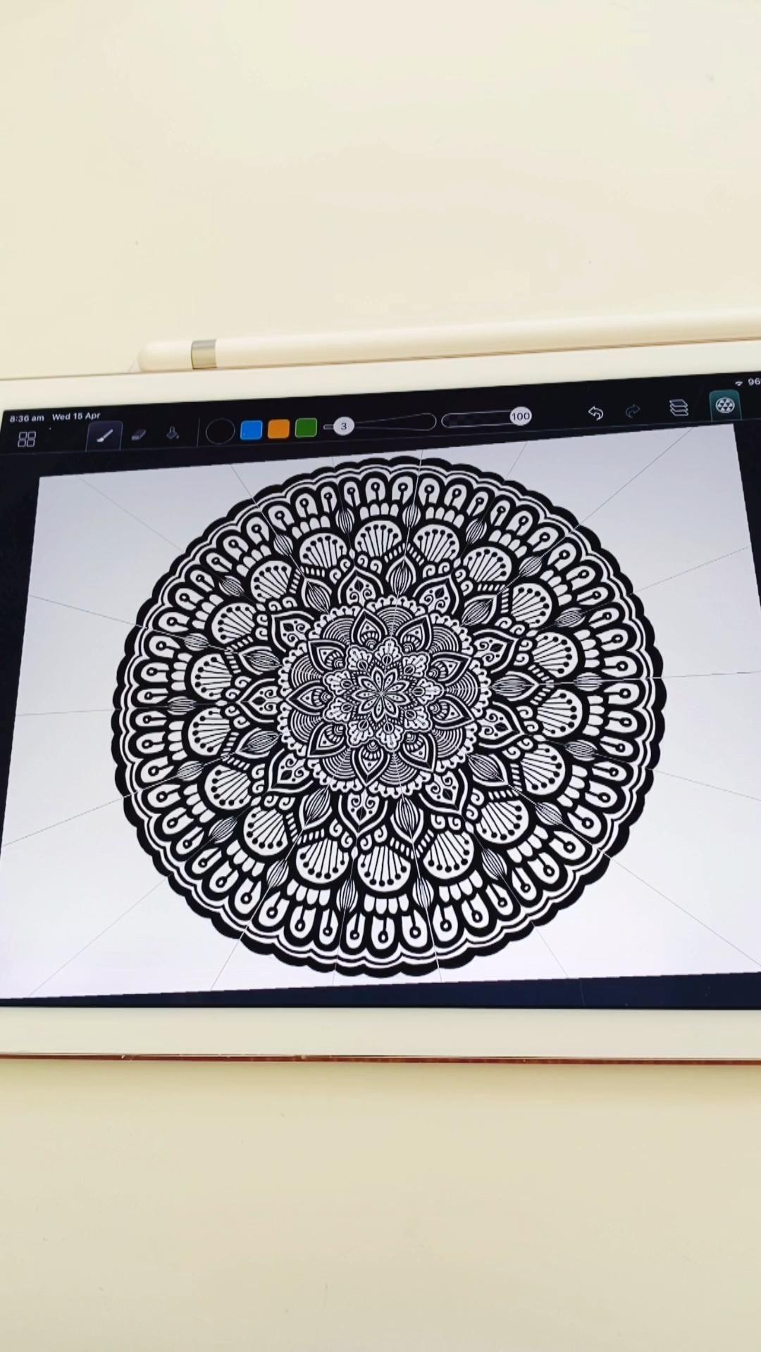 Digital Mandala Art Tutorial Art Digital Mandala Create Videotutorial Mandala Kunst Mandala Kunstunterricht Anleitung Fur Digitale Kunst