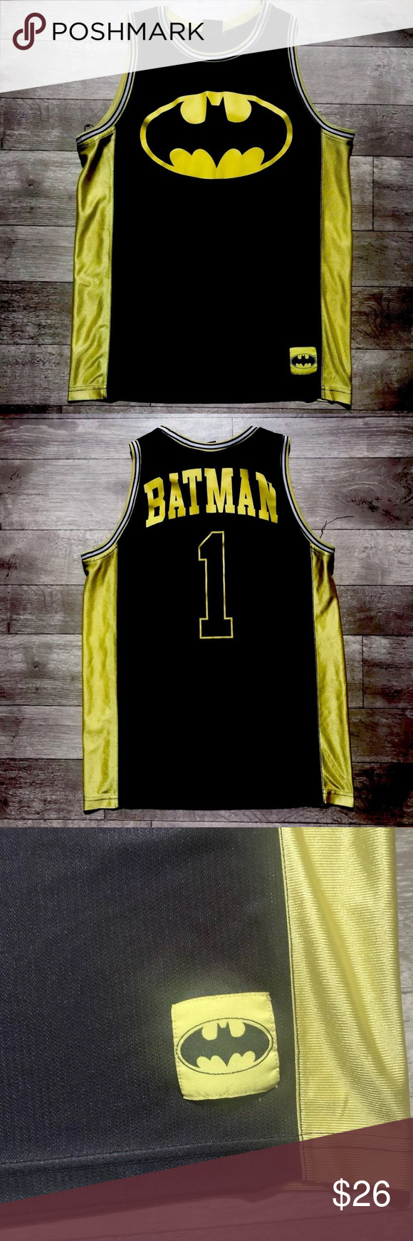 cf81e721dd6 Batman #1 DC Comic Surfer Skater Basketball Jersey Batman #1 DC Comics  Surfer Skater Basketball Jersey Tank Top Shirt Sz Small 14.