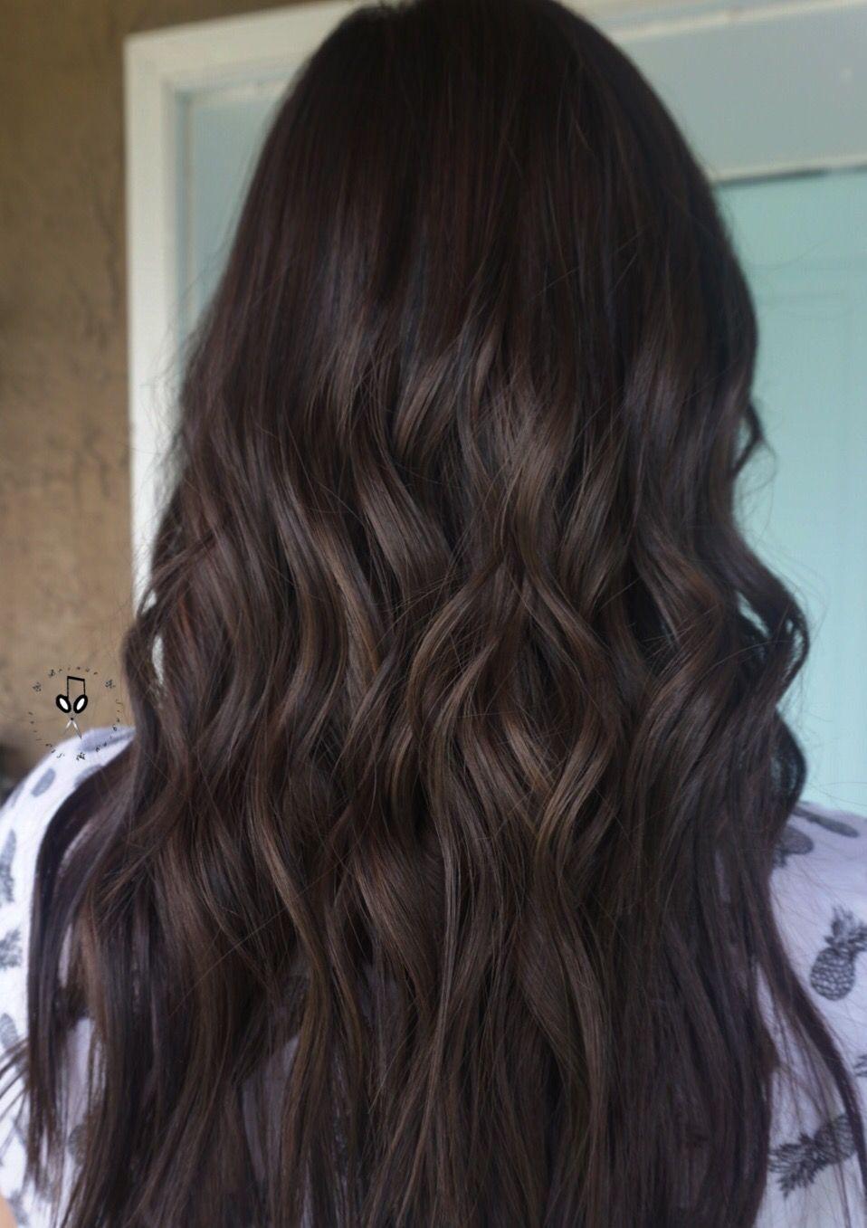 Chocolate Brown Mahogany Hair Styles Coffee Brown Hair Brown Hair Shades