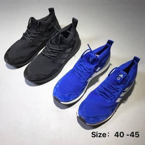 Adidas Ultra Impulso Volta A Metà Corsa Con Volta Impulso Nero, Bianco E Blu, Libera 5d391c