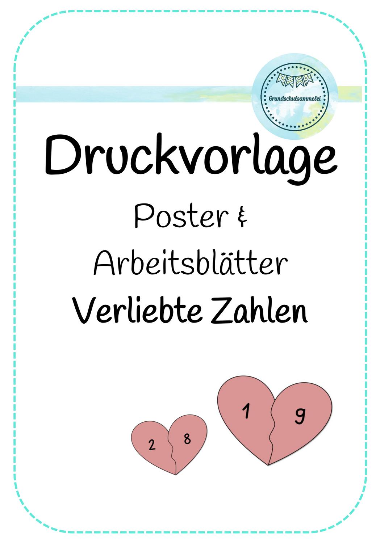 Poster & Arbeitsblätter   Verliebte Zahlen – Unterrichtsmaterial ...