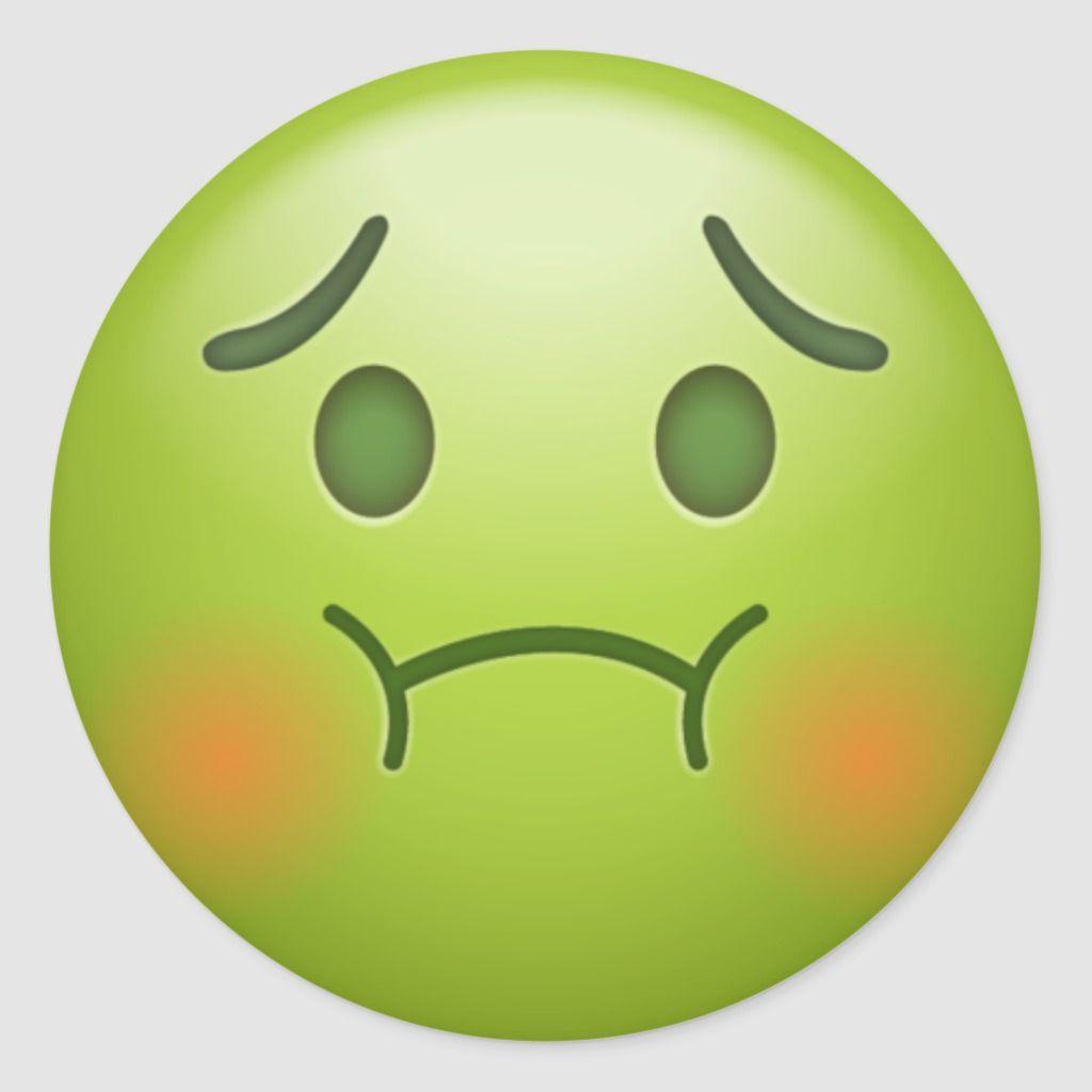Sick Note Emoji Face Classic Round Sticker Zazzle Com In 2021 Emoji Faces Emoji Wallpaper Emoji Images