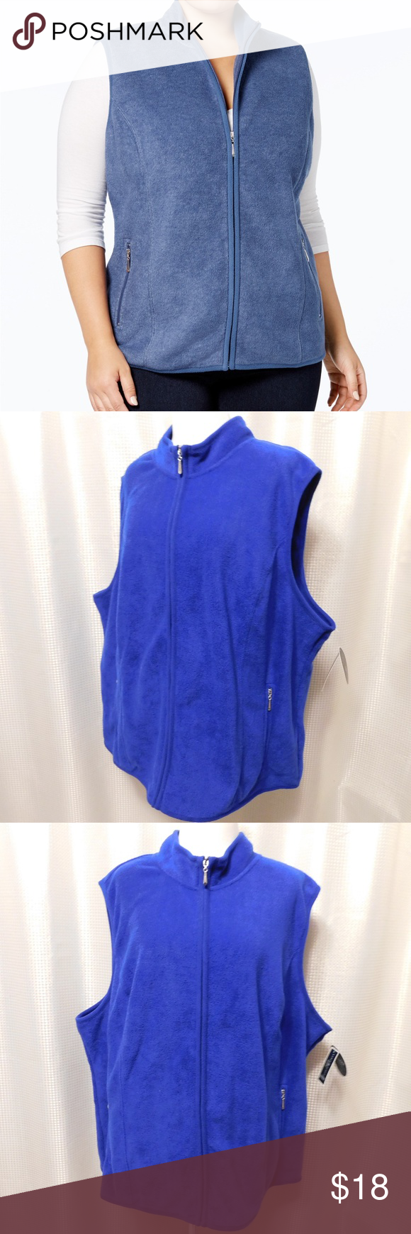 55c133c1c25 Karen Scott Plus Size Zeroproof Fleece Vest Soft in cozy fleece
