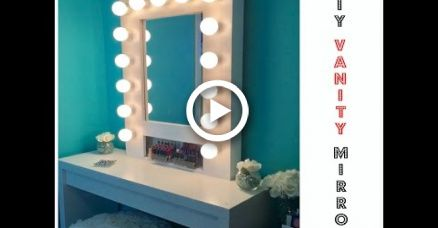 HOW TO: Build your own Hollywood Vanity Mirror W/Lights EASY AND AFFORDABLE images