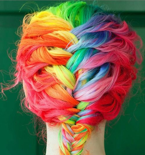Awesome rainbow hair!!!