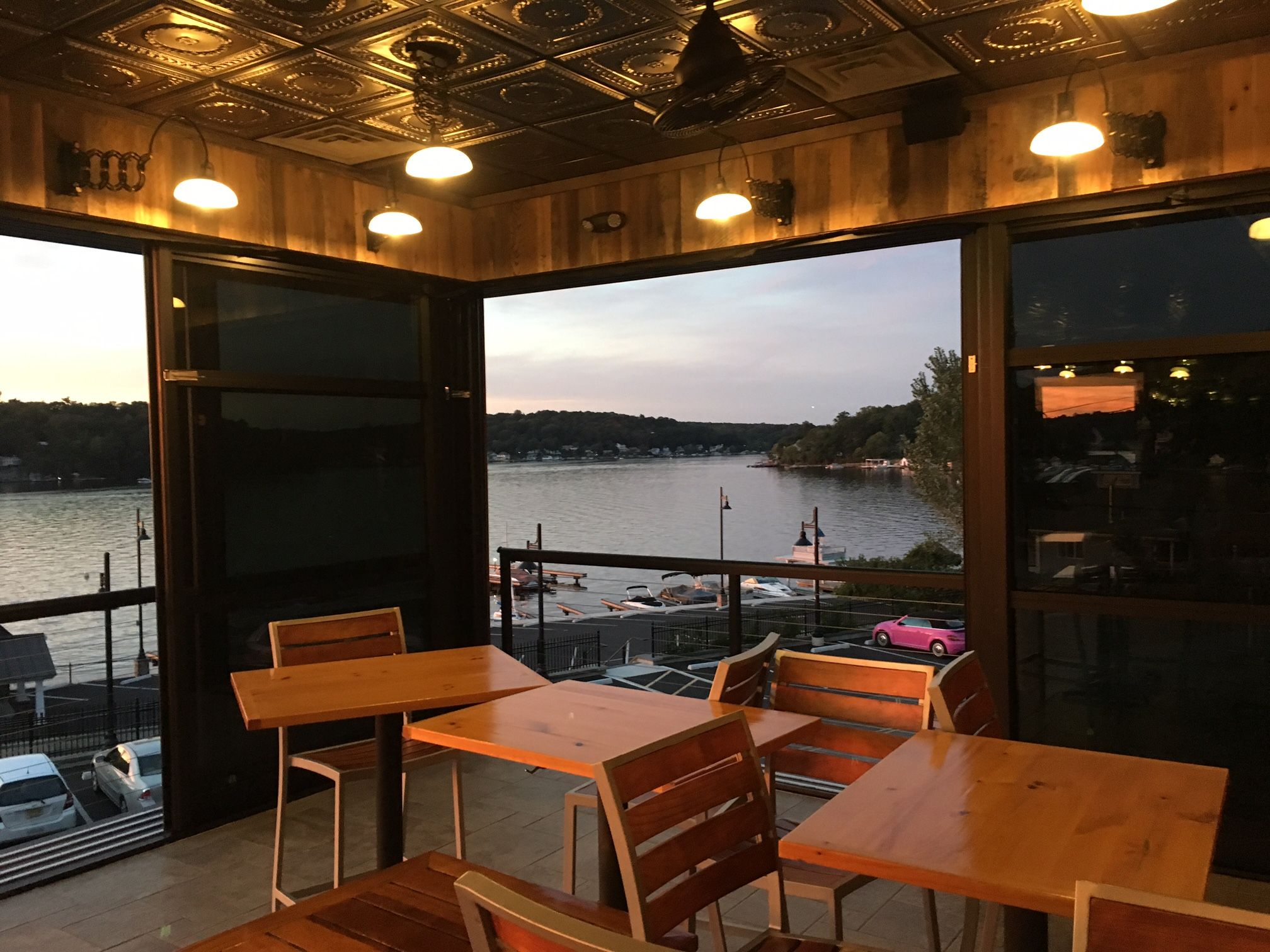 Roll A Cover S Retractable Rolling Wall System At Alice S Restaurant In Lake Hopatcong Nj Wall Systems Home Decor Hopatcong