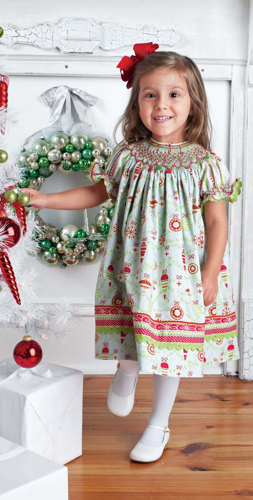 Smocked Christmas Bishop Tutorial Smocked Baby Dresses