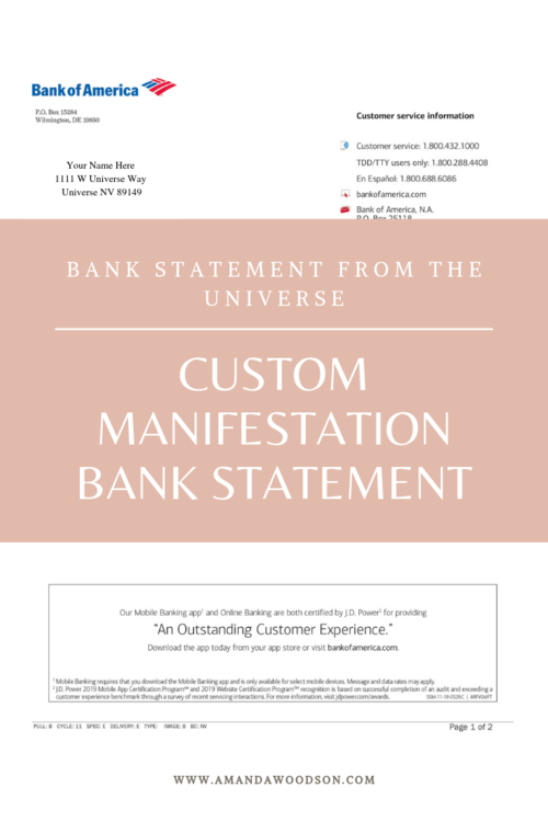 Bank Statement From The Universe2 Png Life Blogs Magical Life Mindset Coaching