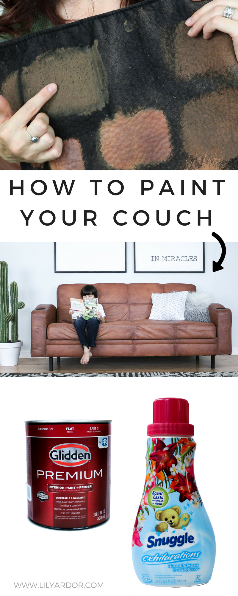Awesome How To Paint Your Microfiber Couch To Look Like Real Leather Theyellowbook Wood Chair Design Ideas Theyellowbookinfo