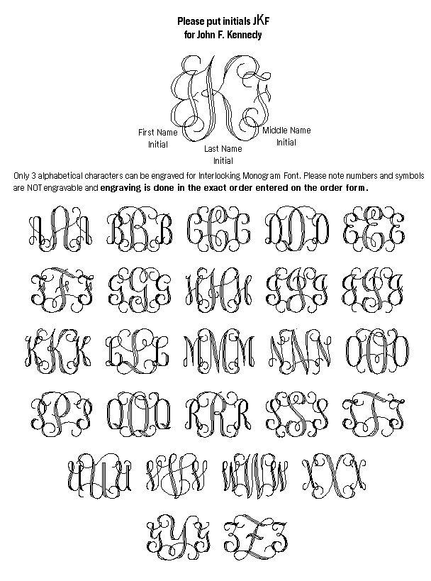yahoo letters Monogram generator, Interlocking monogram