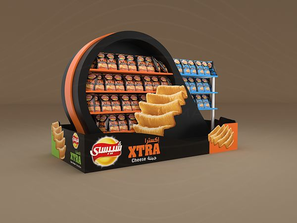 Chipsy XTRA Floor Display On Behance | Chips | Pinterest | Behance, Snacks  And Search