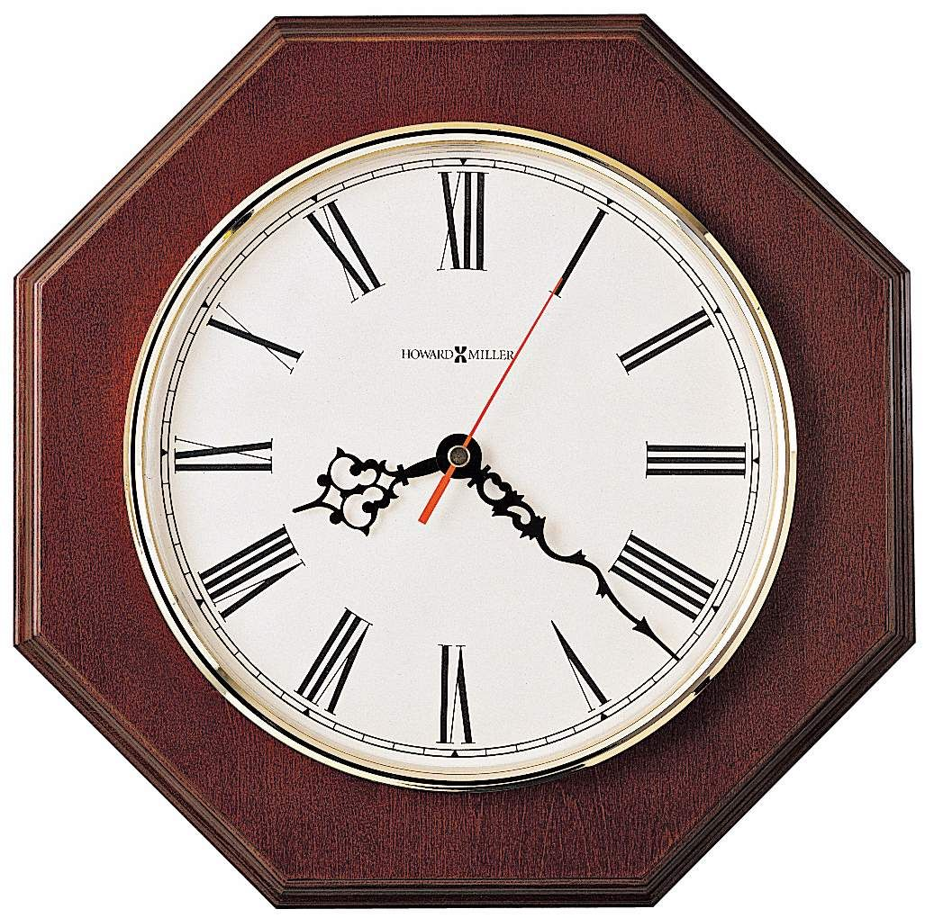 Howard Miller Ridgewood 11 And One Half Inch Wide Oak Wall Clock
