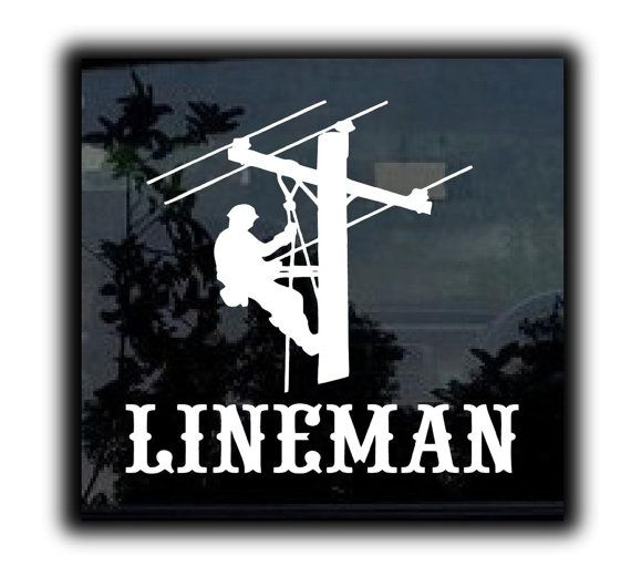 Lineman Elctrician Custom Window Decal Stickers Choose Color - Custom window decal stickers