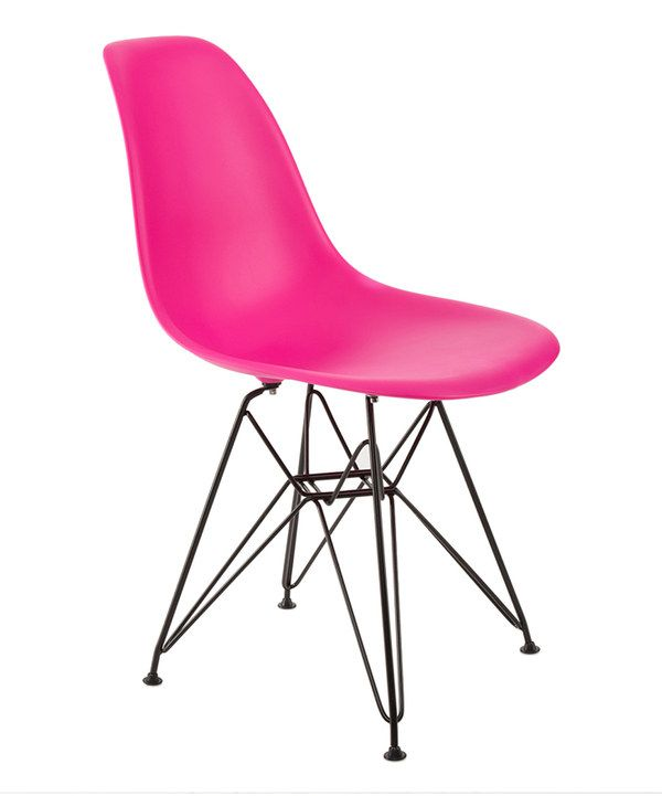 Take a look at this Pink & Black Banks Chair on zulily today!