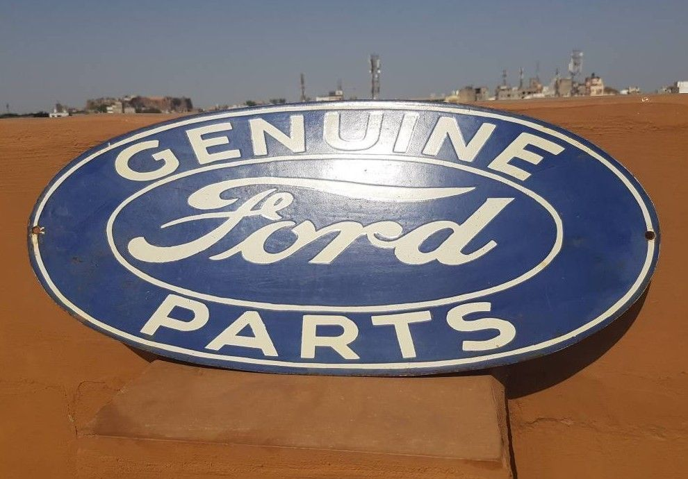 Original 1930 Old Vintage Rare Genuine Ford Parts Ad Porcelain