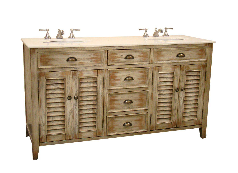 Cottage Look Abbeville Double Sink Bathroom Vanity Model - Bathroom vanities two sinks