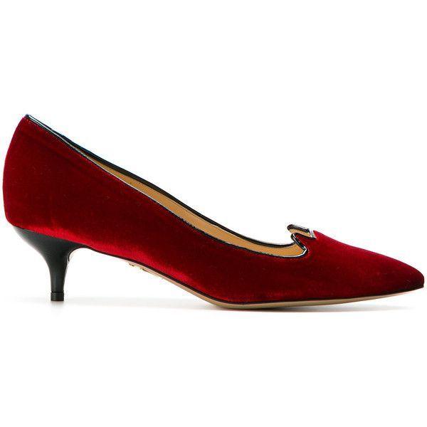 kitten heel pumps - Red Charlotte Olympia pkSA8zFh