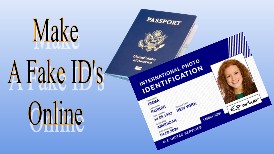 Do you want to know How To Make A Fake ID?  So this is good news for