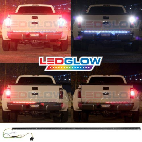 60 Inch Red Tailgate Led Light Bar With White Reverse Lights I Professionally Install Anything Ledglow Sel Led Tailgate Light Bar Bar Lighting Led Light Bars