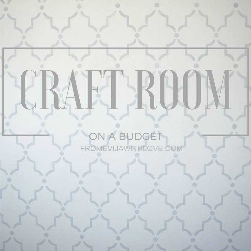 I am lucky to have my own craft room but as there is no budget I really need to get thrifty. Here is my initial plan and budget..