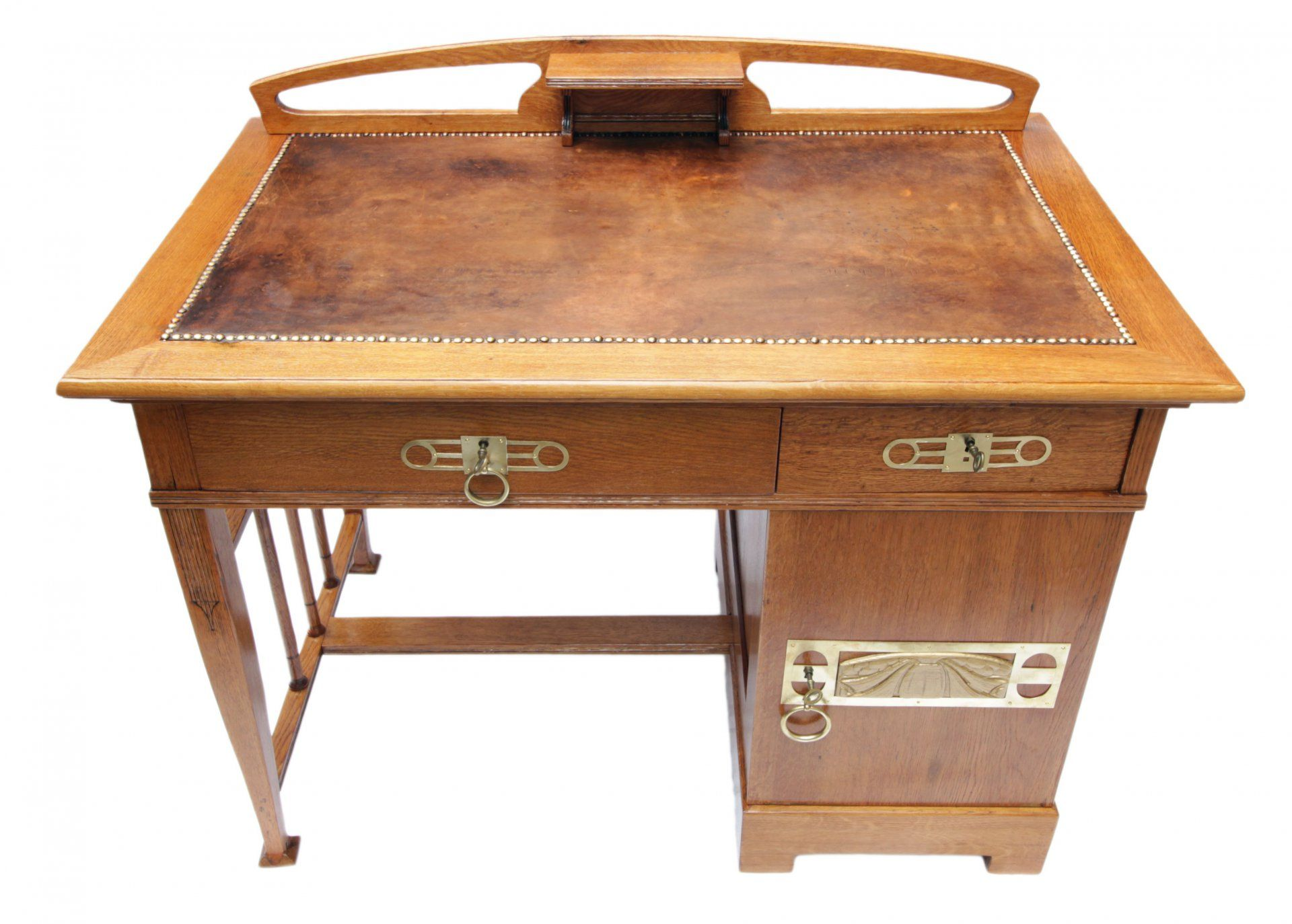 verkauft kleiner schreibtisch eiche jugendstil antiquit ten antik m bel jugendstil. Black Bedroom Furniture Sets. Home Design Ideas