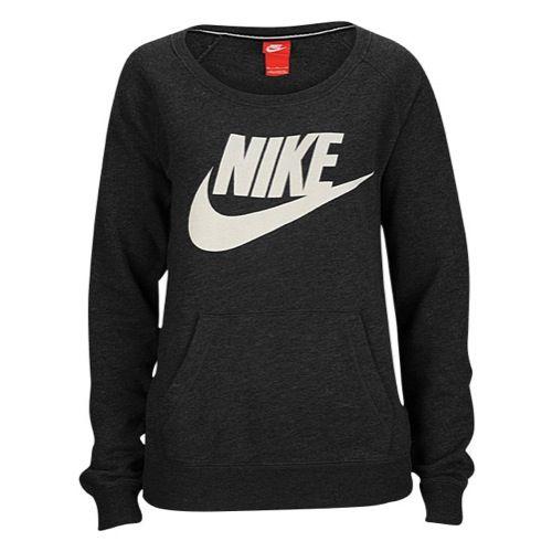 Nike Rally Crew - Women's - Casual - Clothing - Black ...