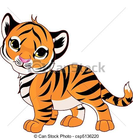 Vector Walking Baby Tiger Stock Illustration Royalty Free Illustrations Stock Clip Art Icon Stock Clipar Cartoon Baby Animals Cartoon Tiger Tiger Images