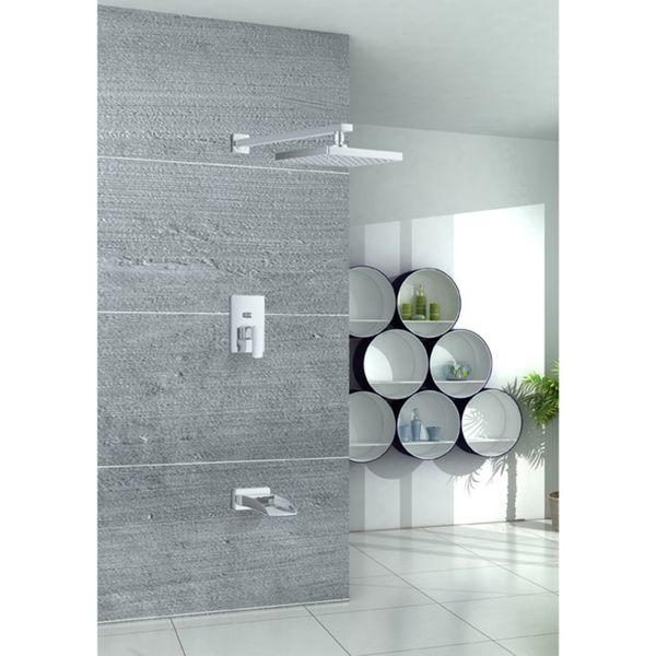 Sumerian Waterfall Tub Spout and Rain Shower Faucet Combo ...