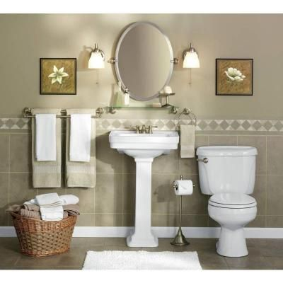 moen sage 26 in x 23 in frameless pivoting wall mirror in spot rh pinterest com