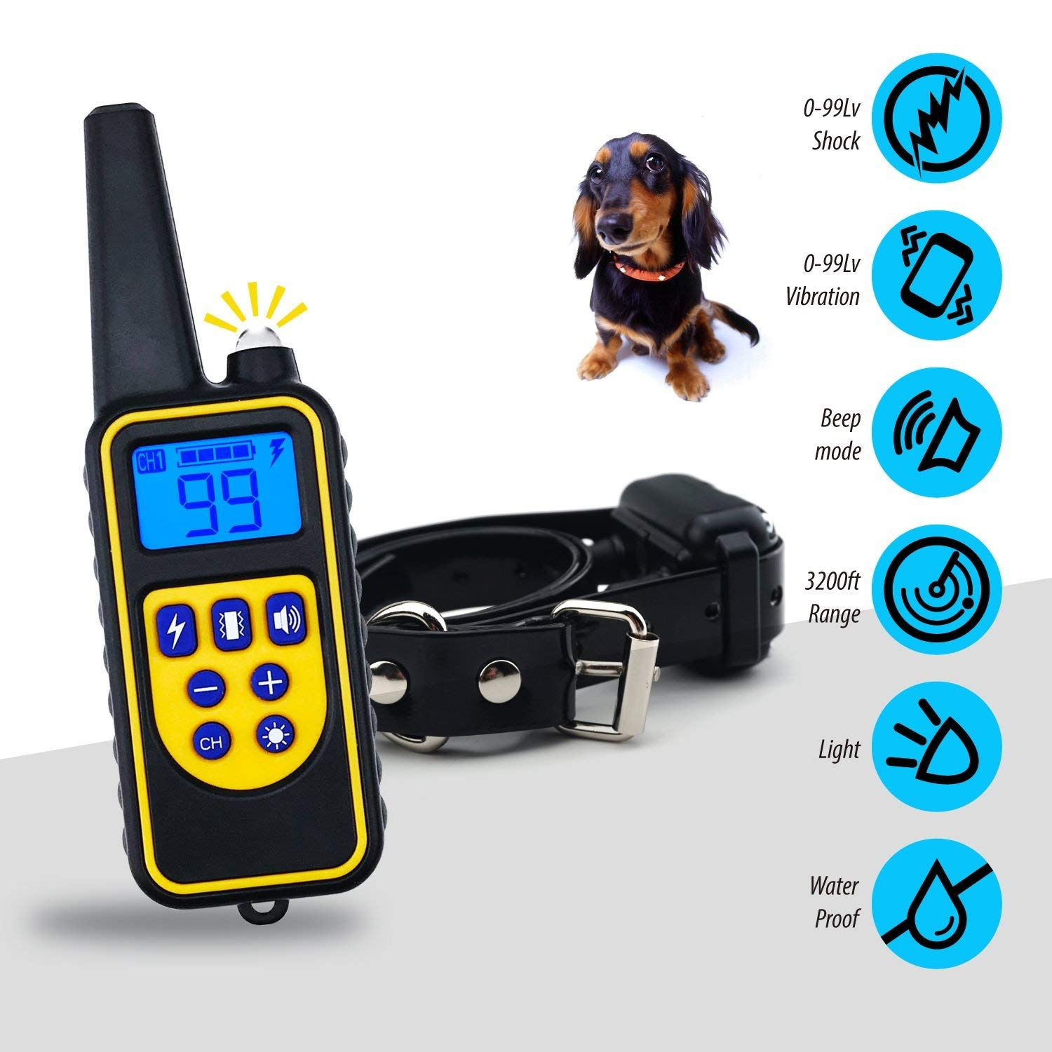 Dog Training Collar Dog Shock Collar With Remote 3200ft Control