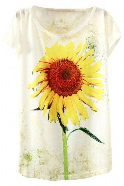 Sunflower printed t shirt