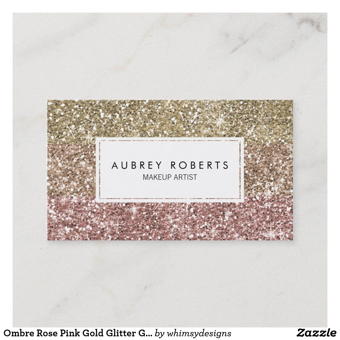 Ombre Rose Pink Gold Glitter Girly Business Cards Zazzle Com In 2021 Girly Business Cards Rose Gold Business Card Makeup Artist Business Cards Templates