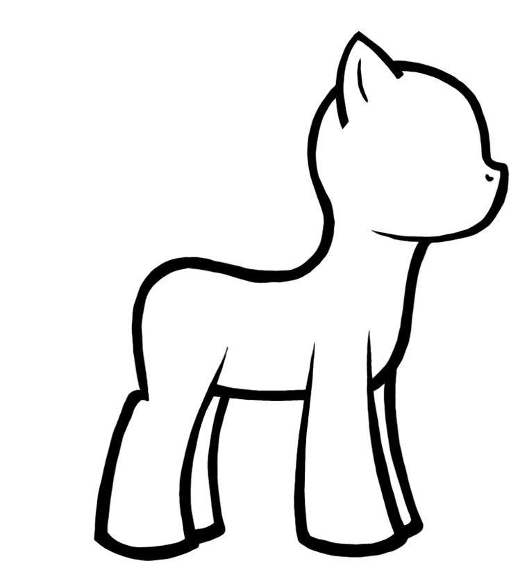 Decorate your own pony -- die of cuteness overload with a group of - best of simple my little pony coloring pages