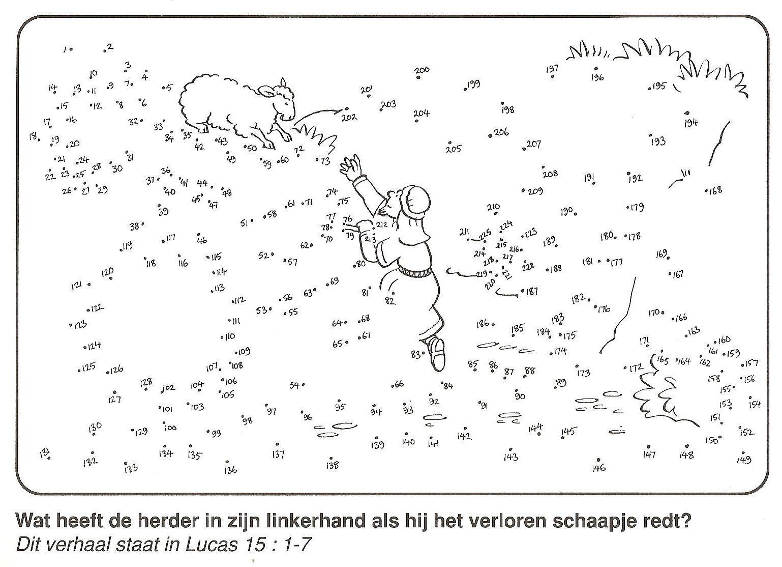 Wat Heeft De Goede Herder In De Hand Als Hij Het Verloren