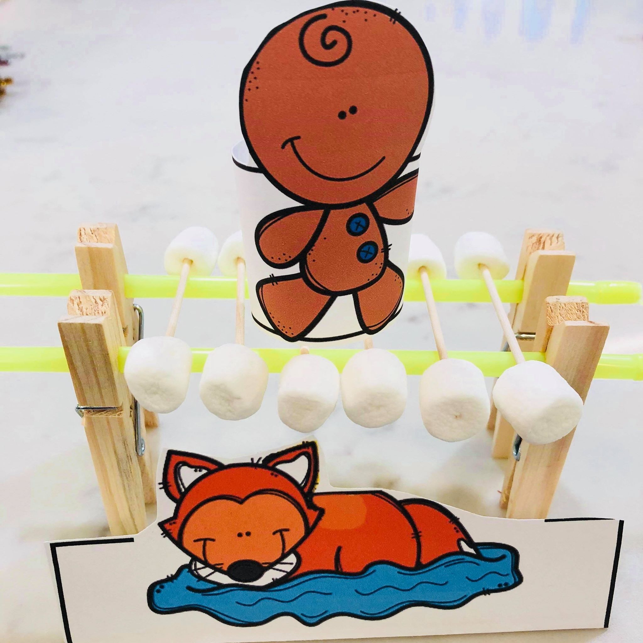 December Christmas Gingerbread Man Stem Learning